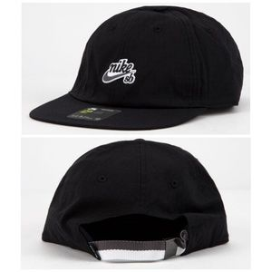 NWT Mens Nike SB H86 Black Strapback Hat